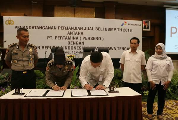 Penandatanganan MoU Polda Jateng- Pertamina MOR IV: Menunjang kinerja pengamanan, pelayanan, dan operasional kepolisian - Istimewa