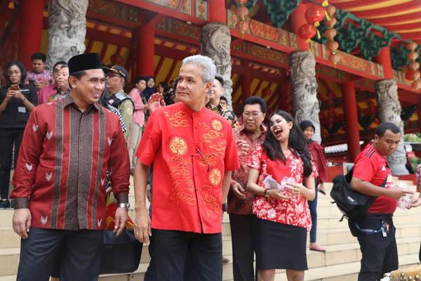 Gubernur Jawa Tengah Ganjar Pranowo (kedua dari kiri). - Bisnis/Alif Nazzala Rizqi