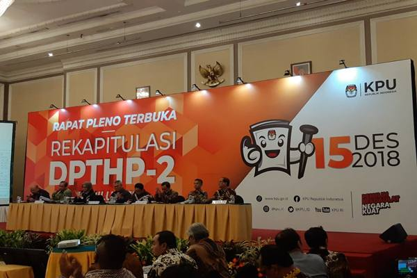 Komisi Pemilihan Umum (KPU) menetapkan sebanyak 192 juta Daftar Pemilih Tetap di Pemilihan Umum 2019. - Bisnis/Muhammad Ridwan