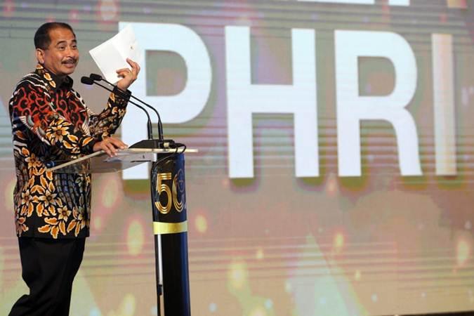 Menteri Pariwisata Arief Yahya saat menyampaikan sambutan pada pembukaan Rapat Kerja Nasional IV PHRI, di Jakarta - Bisnis/Dedi Gunawan