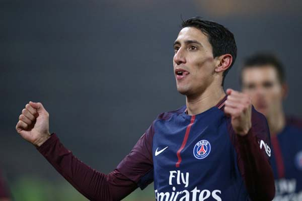 Pemain sayap Paris Saint-Germain Angel di Maria - Reuters/Stephane Mahe