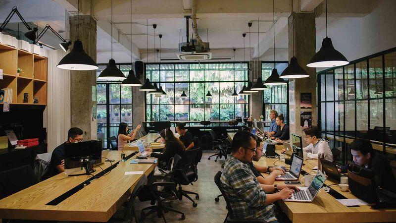 Suasana co-working space di Cocowork The Maja, Jakarta Selatan. - cocowork.co
