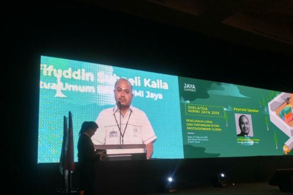 Ketua Umum Himpunan Pengusaha Muda Indonesia Jakarta Raya (Hipmi Jaya) Afifudin Suhaeli Kalla - Antara