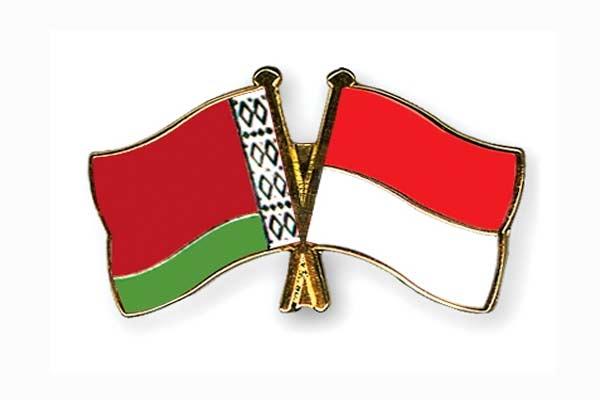 Belarusia - Indonesia. - crossed/flag/pins.com