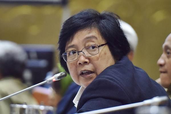 Menteri Lingkungan Hidup dan Kehutanan Siti Nurbaya. - Antara/Wahyu Putro A