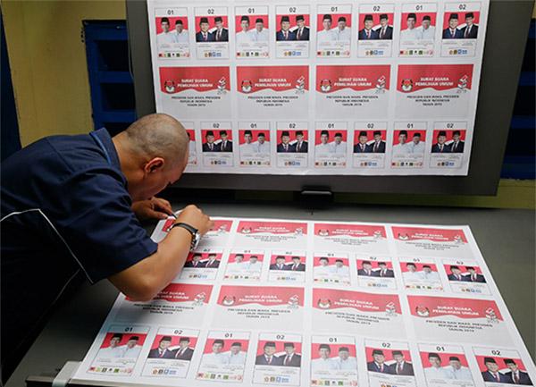Percetakan surat suara Pemilu 2019 di PT Aksara Grafika Pratama