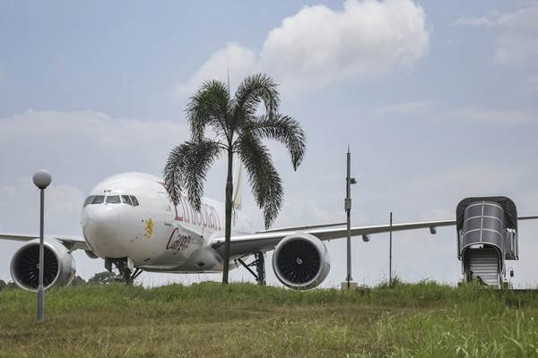 Pesawat kargo Ethiopian Airlines. - ANTARA/M N Kanwa