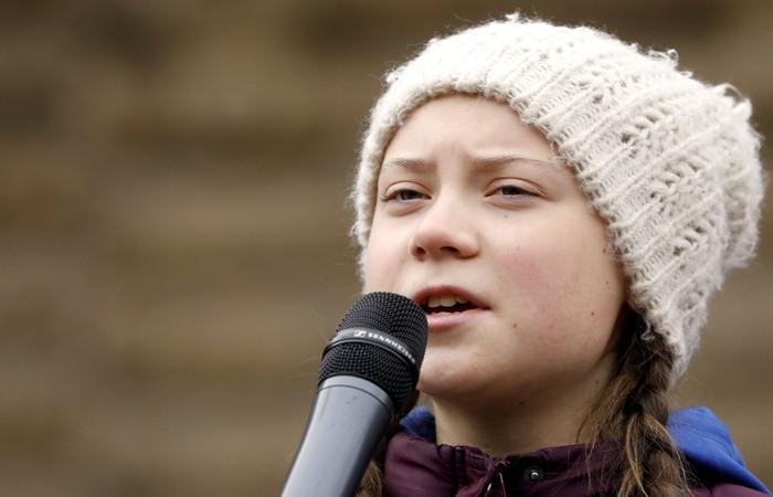 Greta Thunberg, remaja asal Swedia berusia 16 tahun diusulkan sebagai salah satu penerima penghargaan nobel perdamaian atas aksinya menyuarakan penanganan pemanasan global yang dinilai lamban./Reuters- - Morris Mac Matzen