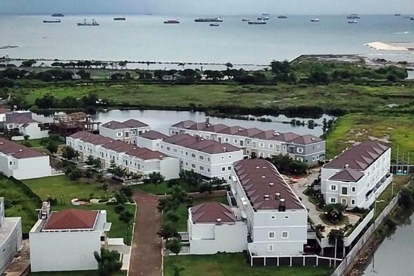 Salah satu kompleks perumahan di Makassar, Sulawesi Selatan, Rabu (2/1/2019). - Bisnis/Paulus Tandi Bone