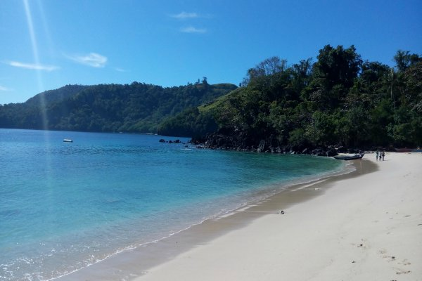 Pantai Pulisan, lokasi kawasan ekonomi khusus di Sulawesi Utara - Bisnis/Lukas Hendara T.M.