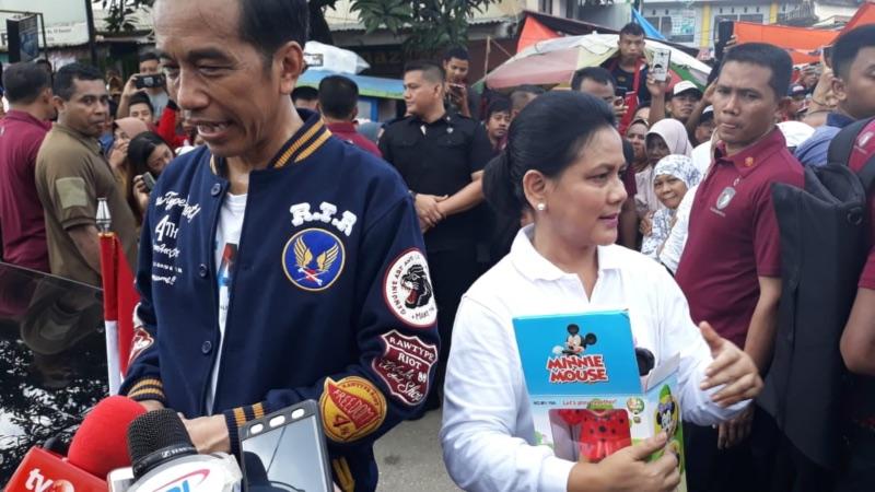 Calon Presiden Joko Widodo dan Iriana Joko Widodo. - Bisnis/Amanda Kusumawardhani