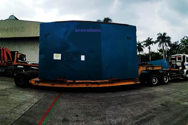 PT Barata Indonesia (Persero) Divisi Komponen Turbin di Cilegon melakukan ekspor perdana produk yakni  Blade Ring dan Combustion Chamber ke Kaohsiung, Taiwan, Rabu (15/8/2018). - Dok. Barata Indonesia