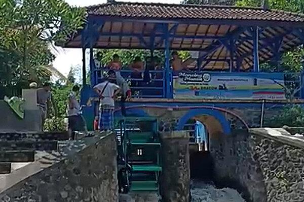 Pembangkit Listrik Tenaga Mikro Hidro Tukad Bindu, Denpasar. - Bisnis/Ist
