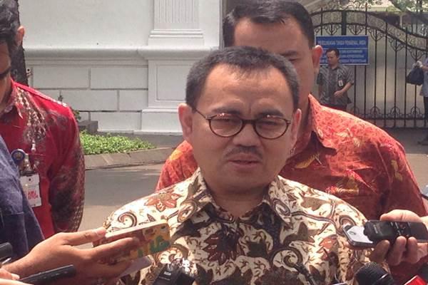 Sudirman Said saat menjadi Menteri Energi Sumber Daya Mineral (ESDM) dalam suatu kesempatan di kompleks Istana Kepresidenan Jakarta, Jumat (20/11/2015). - Bisnis.com/ Akhirul Anwar
