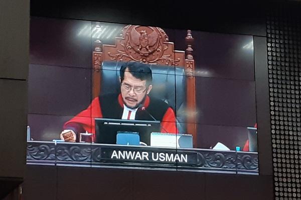 Ketua Mahkamah Konstitusi (MK) Anwar Usman. - Bisnis/Samdysara Saragih