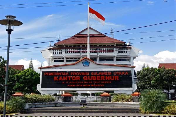 Tampak depan Kantor Pemerintah Provinsi Sulawesi Utara  - Bisnis/Kurniawan A. Wicaksono