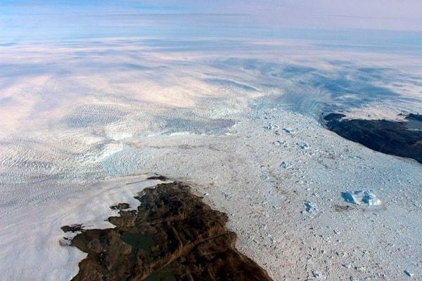 Studi terbaru NASA menunjukkan bahwa Gletser Jakobshavn di Greenland mengalami pertumbuhan - Dok. NASA