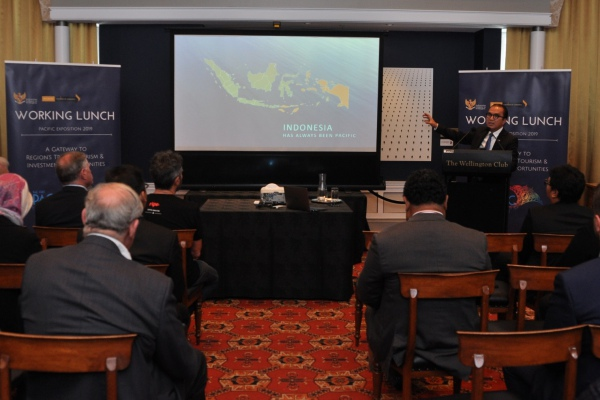 Duta Besar RI untuk Selandia Baru, Samoa dan Kerajaan Tonga, Tantowi Yahya presentasi tentang Indonesia bagian dari Pasifik - Istimewa