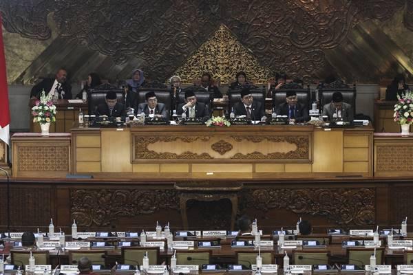 Rapat Paripurna DPR di Kompleks Parlemen Senayan. - Antara