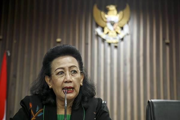 Anggota Dewan Perwakilan Daerah (DPD) GKR Hemas memberikan keterangan. - ANTARA/Hendra Nurdiyansyah