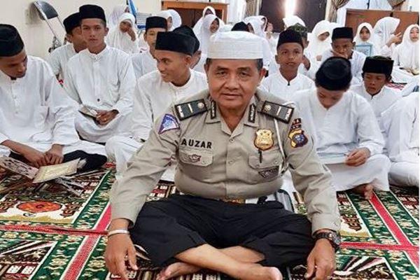 Ipda Auzar tewas dalam serangan Mapolda Riau oleh gerombolan teroris kelompok JAD. Rabu (16/5)/Istimewa -