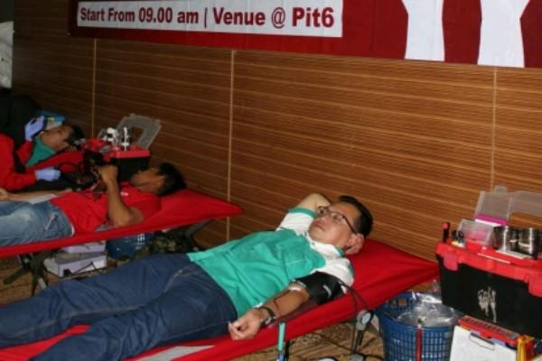 Kegiatan donor darah di Lorin Sentul - istimewa