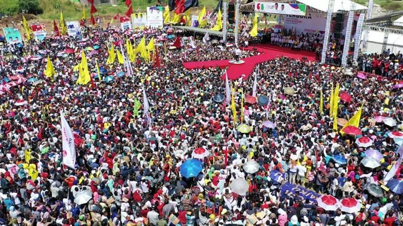 Kampanya calon presiden Joko Widodo atau Jokowi di Nusa Tenggara Timur (NTT), Senin (8/4/2019). - Dok. TKN Jokowi/Ma\'ruf Amin