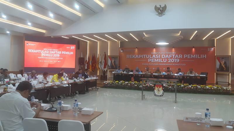 Ilustrasi - Rapat pleno hasil rekapitulasi daftar pemilih tetap hasil perbaikan jilid 3 di Gedung KPU, Jakarta, Senin (8/4/2019). JIBI/Bisnis - Jaffry Prabu Prakoso