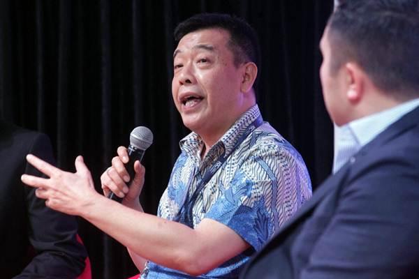 Presiden Direktur Danamas Dani Liharja memberikan penjelasan pada talkshow dengan tema Fintech Untuk Pengembangan Bisnis UMKM, di Jakarta, Jumat (15/9). - JIBI/Dedi Gunawan