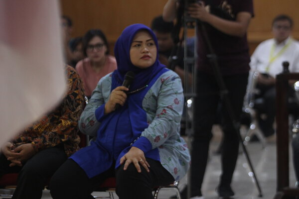 Mantan Bupati Bekasi, Neneng Hasanah Yasin.
