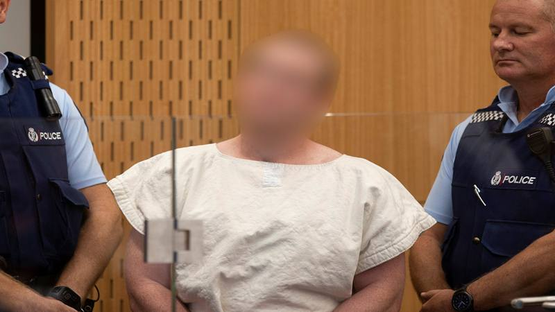 Brenton Tarrant didakwa atas pembunuhan sehubungan dengan serangan masjid,saat penampilannya di Pengadilan Distrik Christchurch, Selandia Baru 16 Maret 2019. - Reuters
