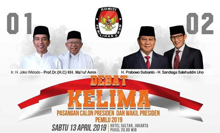 Ilustrasi jadwal Debat Kelima Pasangan Calon Presiden dan Wakil Presiden Pemilu 2019. - Istimewa