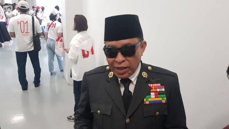 Sosok mirip Proklamator kemerdekaan Indonesia Sukarno terlihat di kampanye akbar calon presiden dan wakil presiden nomor urut 01 Joko Widodo-Ma'ruf Amin. JIBI/Bisnis - Lalu Rahadian