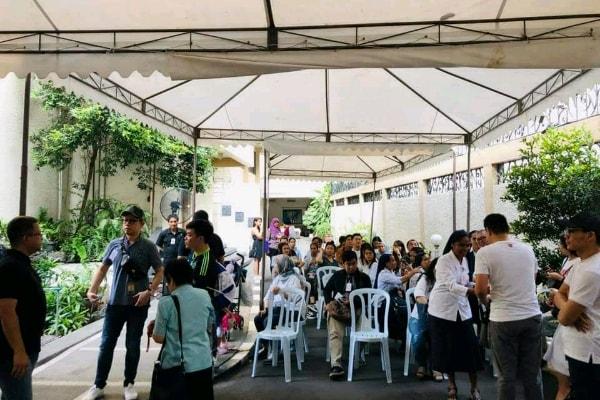 Suasana pemungutan suara di TPSLN KBRI Manila pada Minggu (14/4/2019) - Dok. PPLN Manila