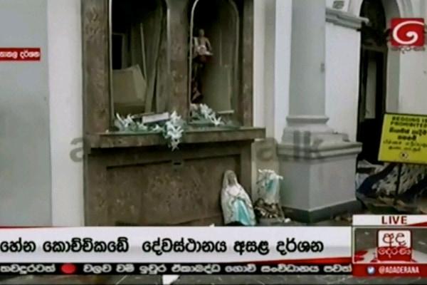 Kondisi Gereja St. Anthony di Colombo, Sri Lanka usai ledakan - Reuters