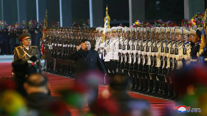 Pemimpin Korea Utara Kim Jong-un berangkat untuk mengunjungi Rusia di lokasi yang dirahasiakan dalam foto tak bertanggal ini yang dirilis pada 23 April 2019 oleh Kantor Berita Pusat Korea (KCNA). - Reuters
