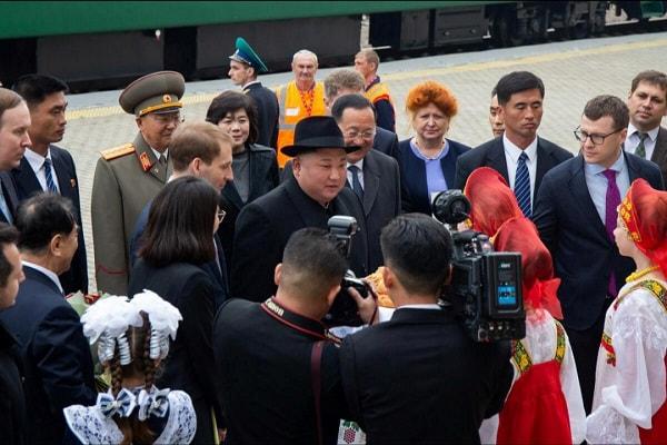 Pemimpin Korea Utara Kim Jong-un tiba di Vladivostok, Rusia, pada Rabu (24/4/2019) untuk menghadiri pertemuan tingkat tinggi perdananya dengan Presiden Rusia Vladimir Putin. - Reuters