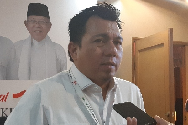 Direktur Hukum dan Advokasi TKN Jokowi-Ma'ruf Ade Irfan Pulungan - Bisnis/Aziz Rahardyan