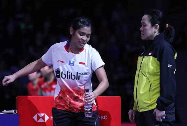 Tunggal putri Gregoria Mariska bersama Minati Timur - Badminton Indonesia