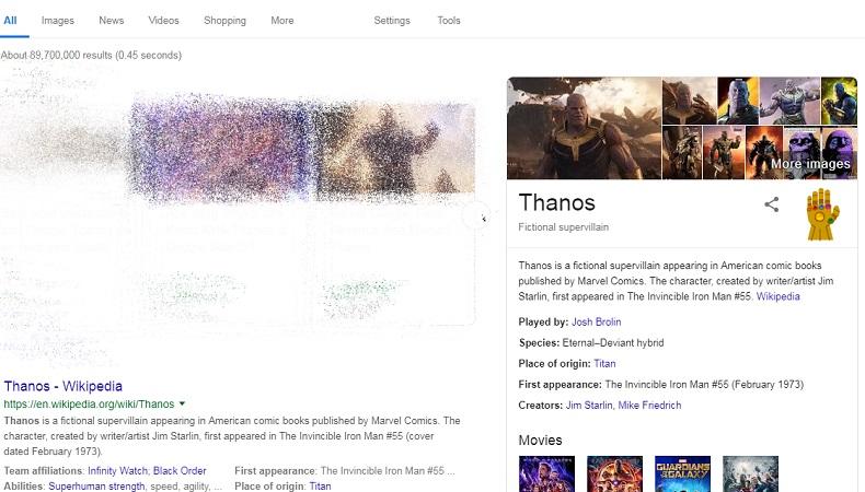 Laman hasil pencarian Google yang lenyap - www.google.com