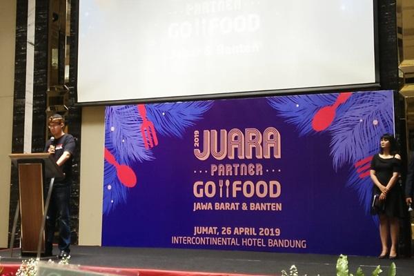 VP Regional GOJEK Jawa Barat dan Banten Becquini Akbar di Bandung, Jumat (26/4/2019). - Bisnis/Dea Andriyawan (k34)