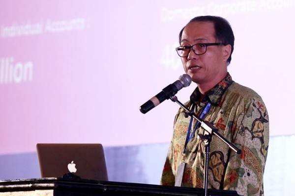 Presiden Direktur PT Bank Nusantara Parahyangan Tbk. (Bank BNP) Hideki Nakamura memberikan sambutan pada acara Talkshow Peluang dan Tantangan Bisnis di Tahun Politik 2018 di Bandung, Jawa Barat, Selasa (23/1). - JIBI/Rachman