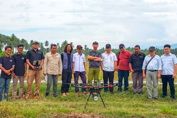 Tim Terra Drone Indonesia bersama Tim Japan International Cooperation Agency di Palu. - Terra Drone