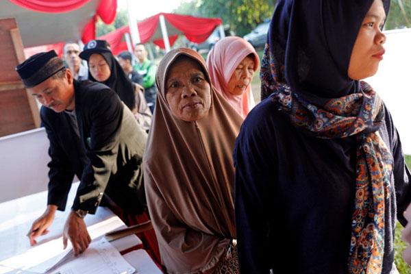Ilustrasi pelaksanaan Pemilu 2019 - Reuters/Willy Kurniawan