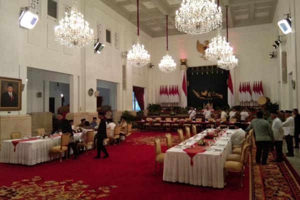 Suasana Istana Negara jelang acara buka puasa bersama Presiden Jokowi dan pimpinan lembaga negara. - Bisnis/Yodie Hardiyan