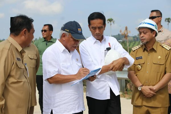 Presiden Joko Widodo saat di Kalimantan Timur.