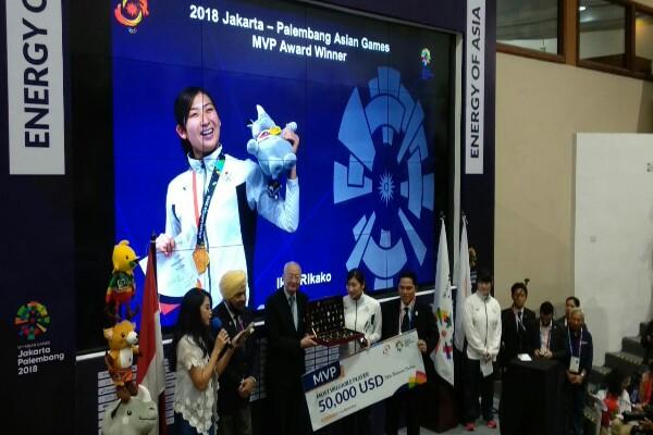 Rikako Ikee Sabet Most Valuable Player Asian Games 2018 di Jakarta. - Bisnis.com/Nur Faizah Bahriyatul Baqiroh