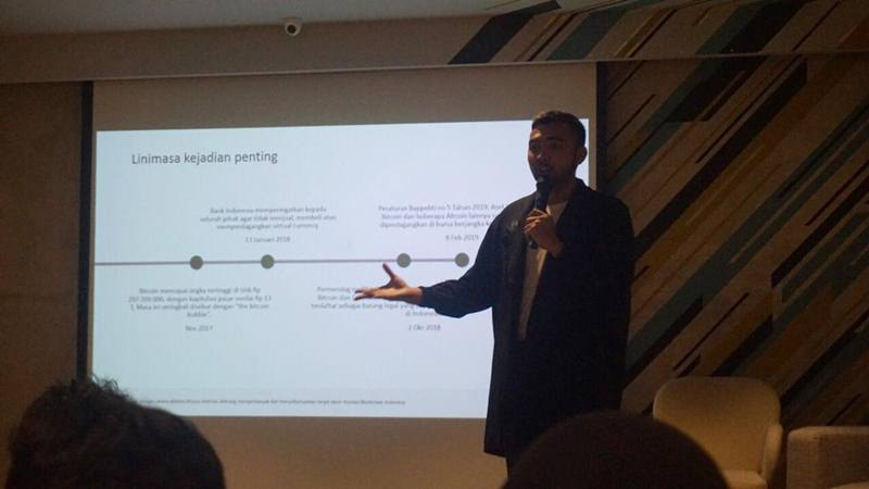 Direktur Eksekutif Asosiasi Blockchain Indonesia, M. Deivito Dunggio. - Bisnis/Leo Dwi Jatmiko