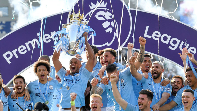 Manchester City juara Liga Primer Inggris musim 2018 - 2019. - Reuters/Toby Melville