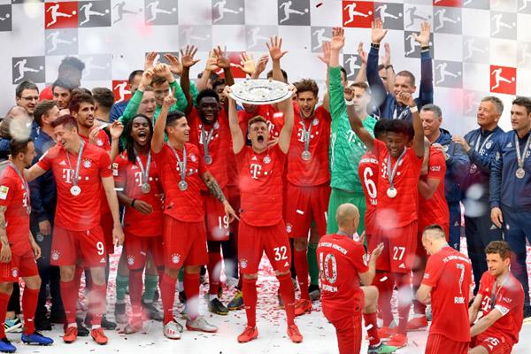 Bayern Munchen juara Bundesliga musim 2018 - 2019. - Reuters/Andreas Gebert